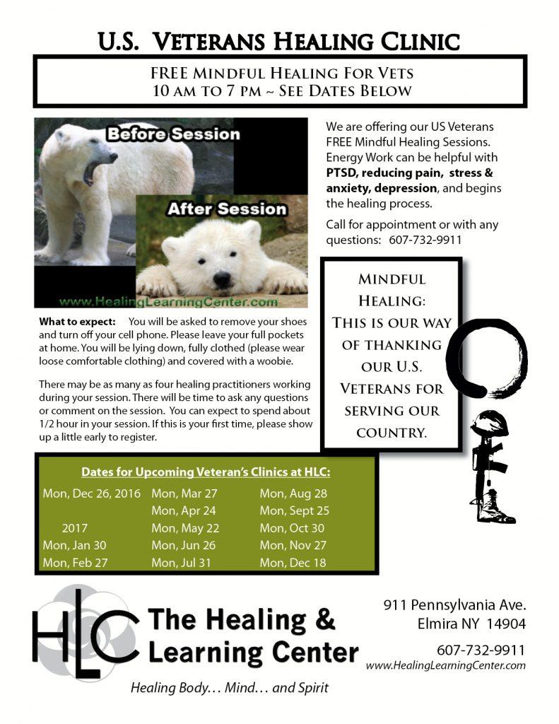 U.S. Veteran's FREE Healing Clinic @ HLC | Elmira | New York | United States